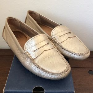 Bass Missy Loafers in Gold
